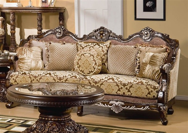 Antique formal luxury sofa chaise lounge chair new 6 pcs living room ...