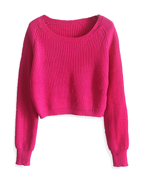 All Match Brief Solid Long Sleeve Cropped Sweater