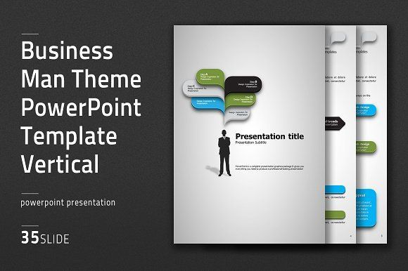 This \u0027Business Man Theme PPT Vertical\u0027 is simple but impact This