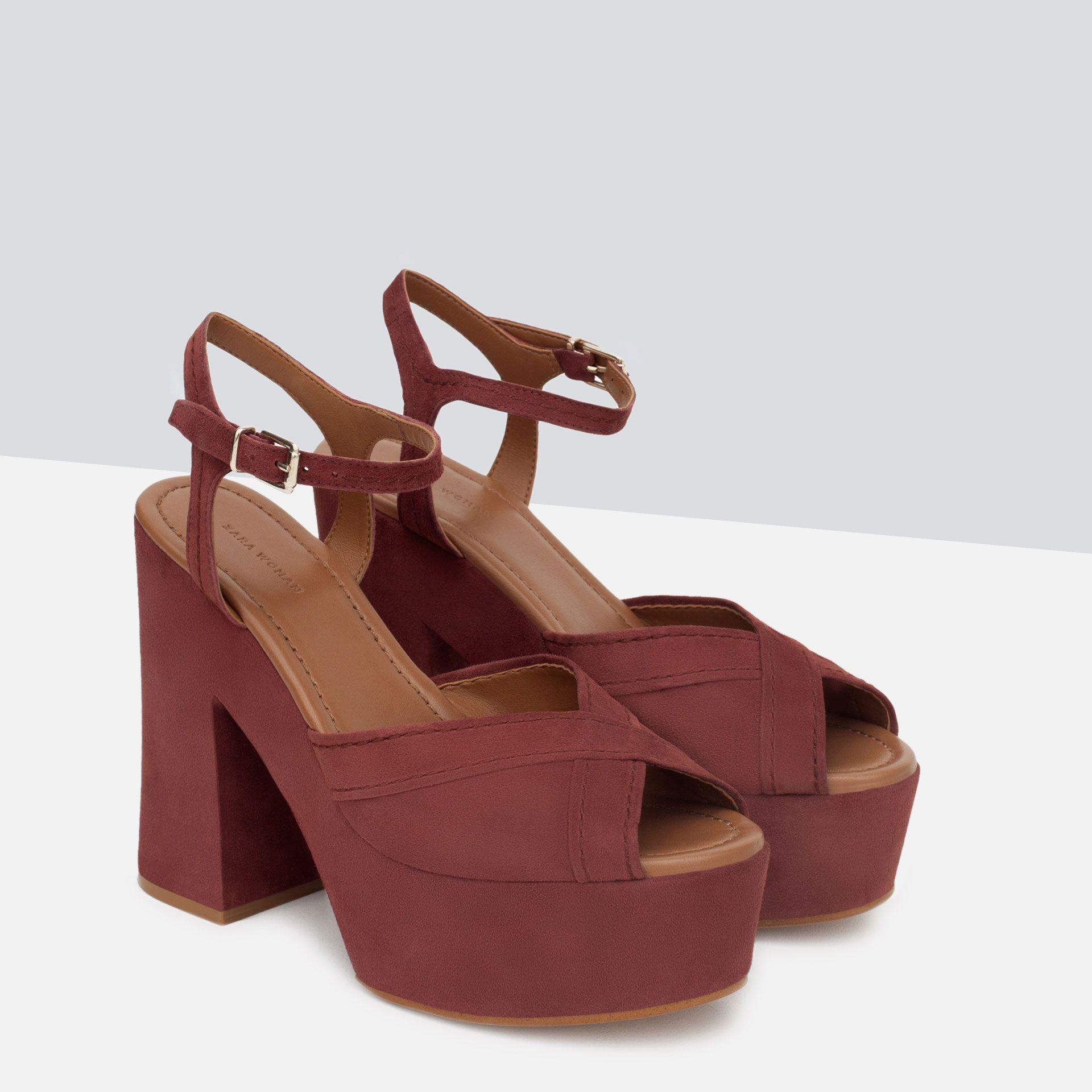 Zara Piel México Sandalia Sandalias Mujer Plataforma Zapatos SqaxnX