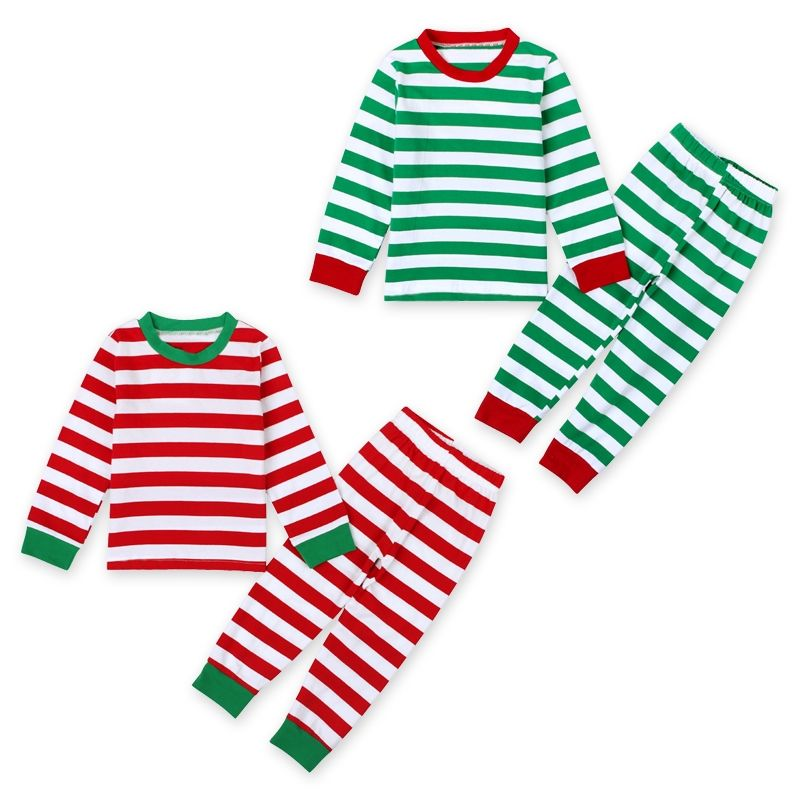 Family Christmas Pjs Clothing Set Adult Kids Xmas Striped Sleepwear  Nightwear Pajamas Set Pyjamas Party Photography Prop 3cd1cd8c1