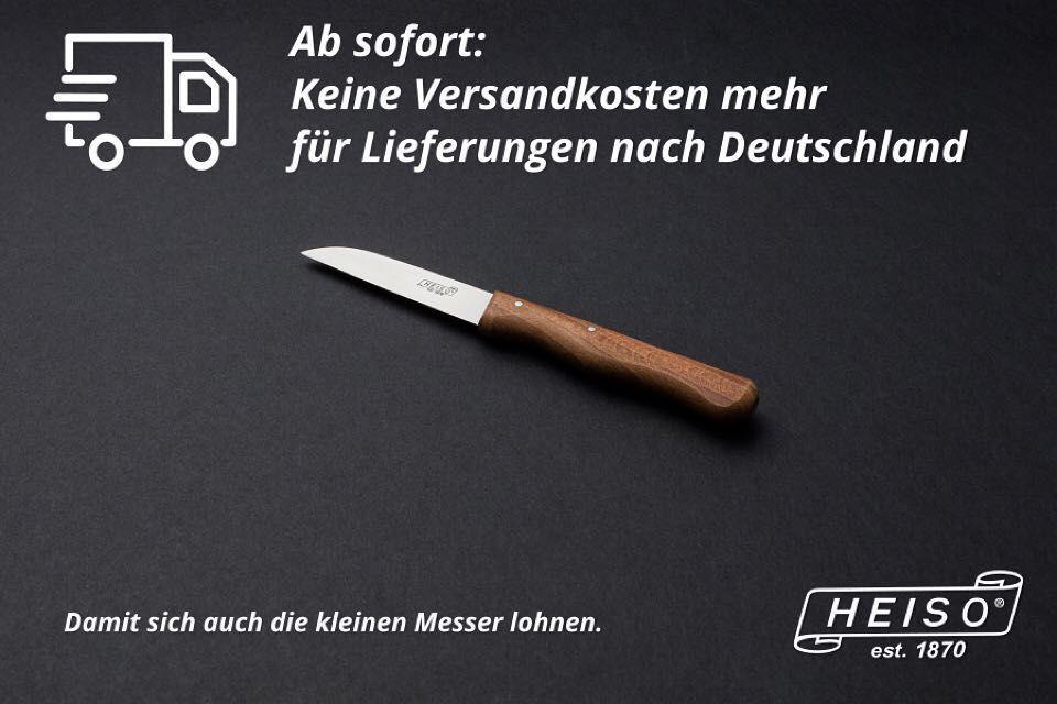 Keine Versandkosten mehr für Lieferungen nach Deutschland . Wir wissen dass gerade kleine Küchenmesser essenzieller Bestandteil des alltäglichen Gebrauchs sind. Und genau deshalb wollen wir vermeiden dass Versandkosten das Einkaufserlebnis schmälern. Wir wünschen viel Spaß beim Stöbern und Ausstatten der Küche mit scharfen Küchenmessern. . www.heiso-1870.de . Euer HEISO 1870 Team . #machdichscharf #küchenmesser #kochmesser #messerset #messerblock #foodblogger_de #foodblogger #solingen #küche…
