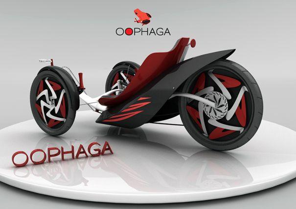 Wild Froggy Trike Action | Yanko Design