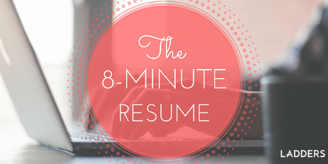 The 8-Minute Resume | Pinterest | Resume builder and Job interviews