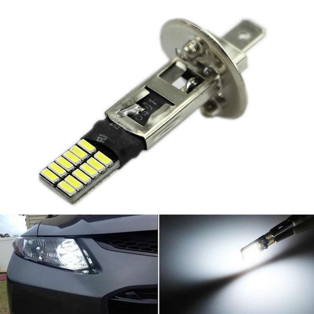 Led Replacement Headlight Bulbs >> 6500k Hid Xenon White 24 Smd H1 Led Replacement Bulbs For