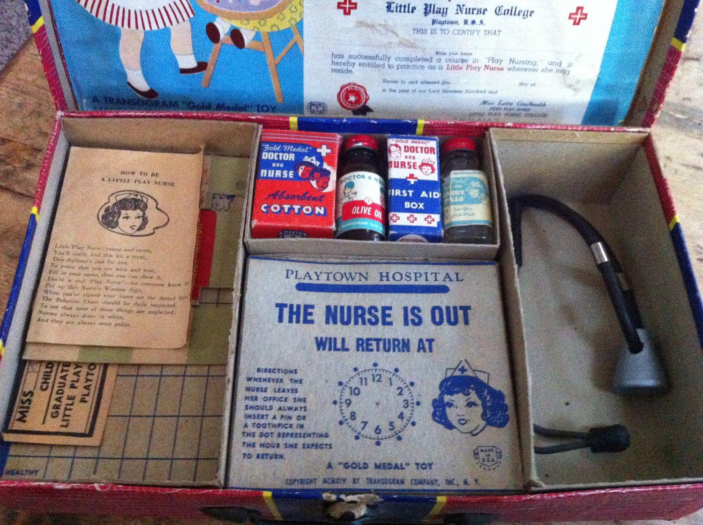 Adorable 1940s Little play nurse kit