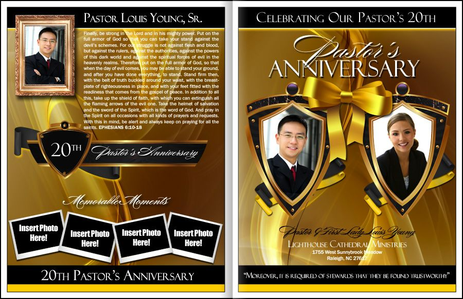 Pastors Anniversary Program Template Projects To Try Pastor
