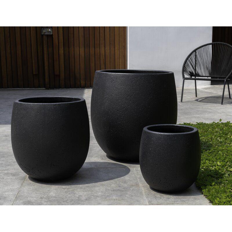 Sandos 3 Piece Composite Pot Planter Set Planters Planter Pots