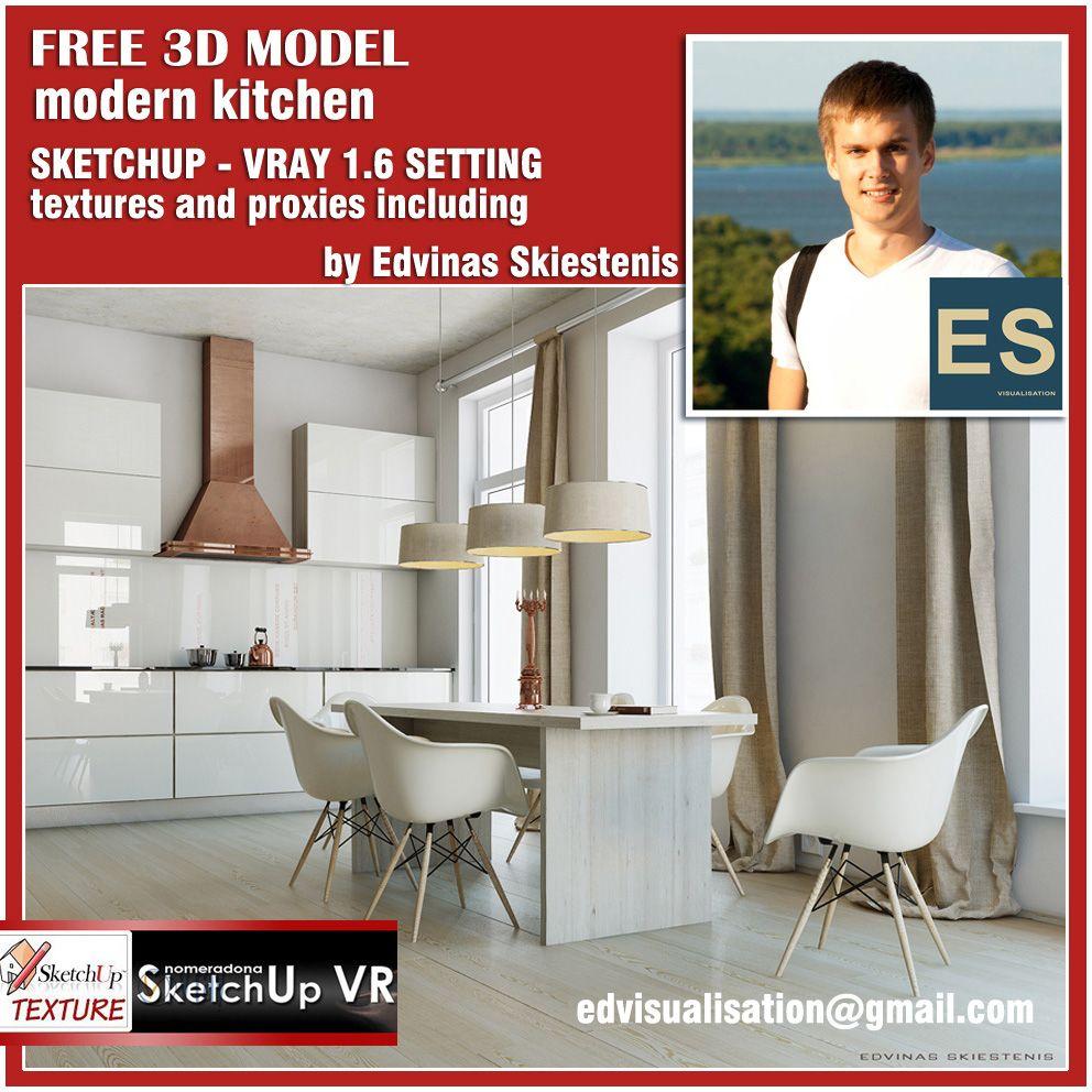 SKETCHUP TEXTURE Modern kitchen, Kitchen models, Kitchen