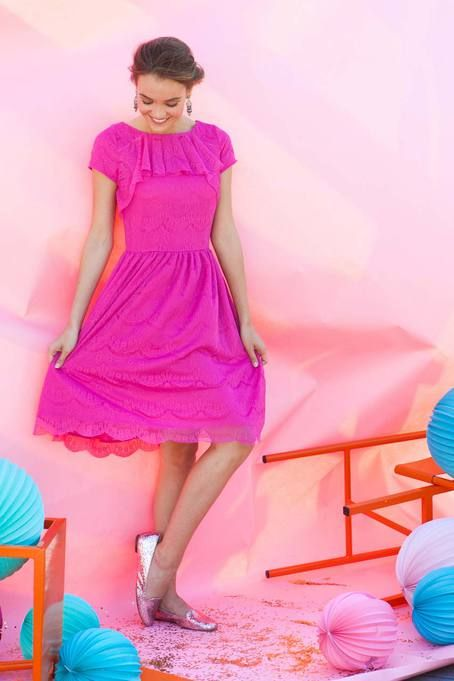 Share your Shabby!  Gramercy Dress Pink