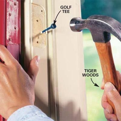 Diy Tip Of The Day Fix A Loose Hinge Most Loose Hinges Are Caused By Stripped Screw Holes Remove The Loose Hinge From Th Diy Home Improvement Diy Repair Diy