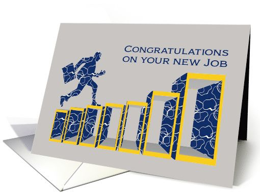 Congratulations on your new job businessman climbing success ladder congratulations on your new job businessman climbing success ladder card personalize any greeting card for no additional cost m4hsunfo