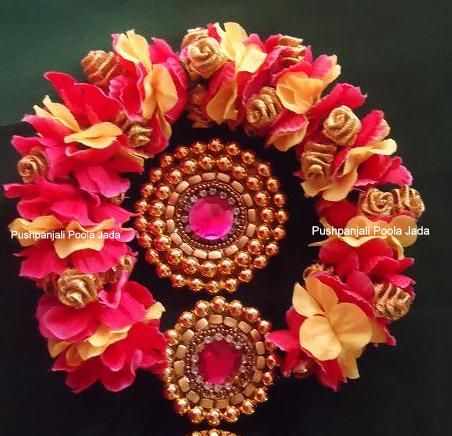 Artificial Flowers Gajra Or Veni Bridal Hairstyles With