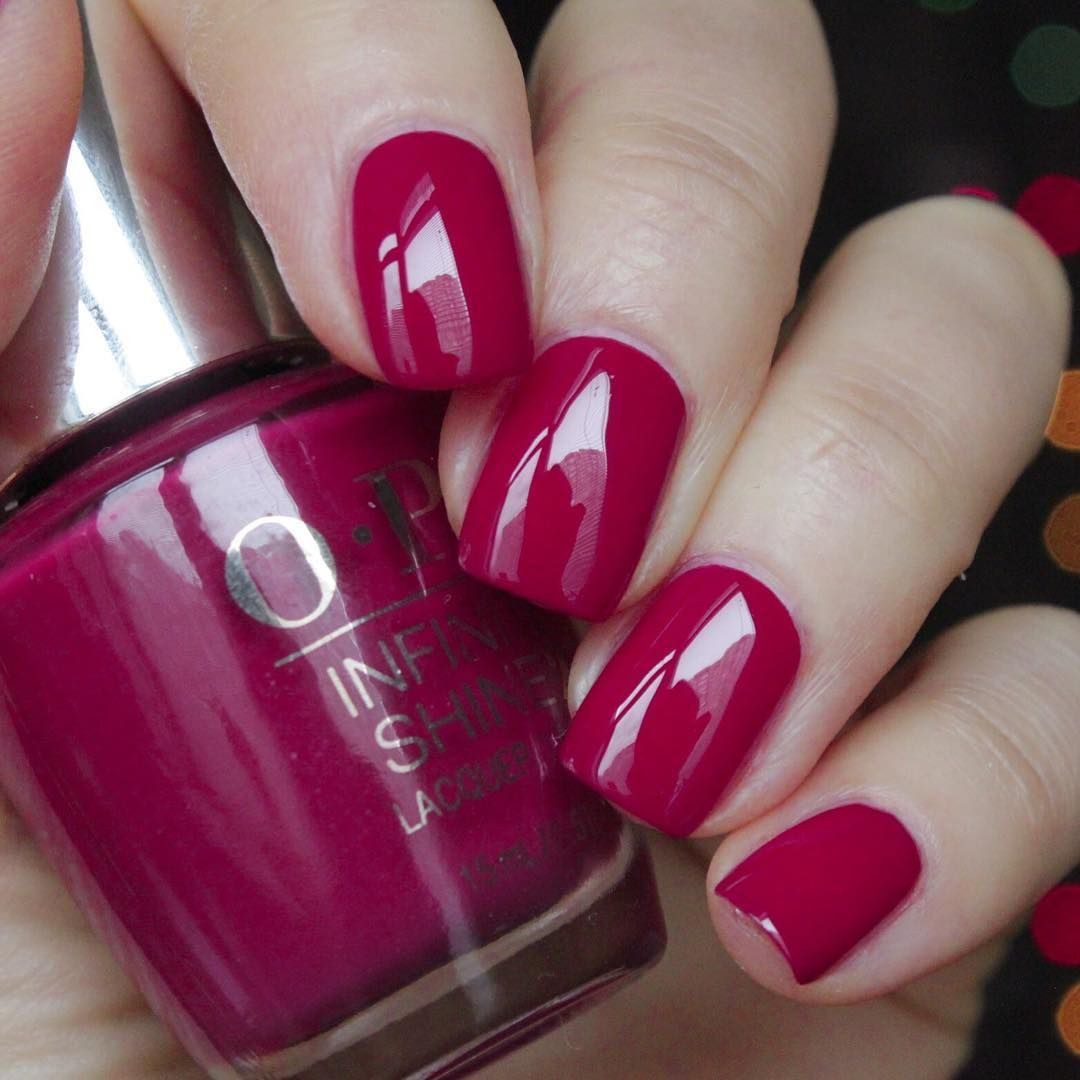Opi infinite shine berry on forever | Hair and Makeup | Pinterest ...