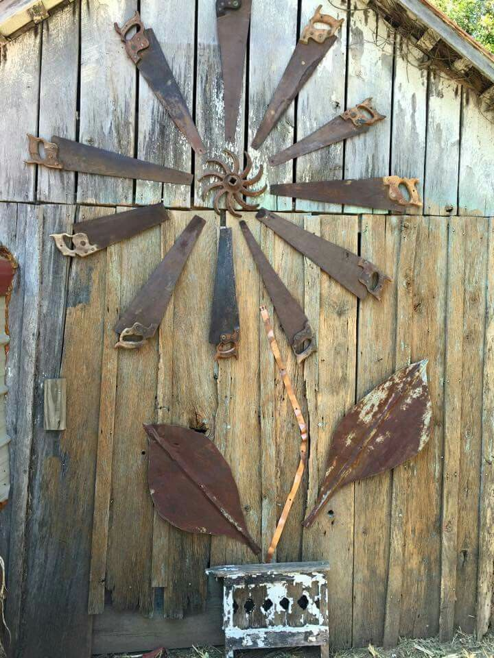 Rusty Saws Repurposed Could Also Use Old Fan Blades