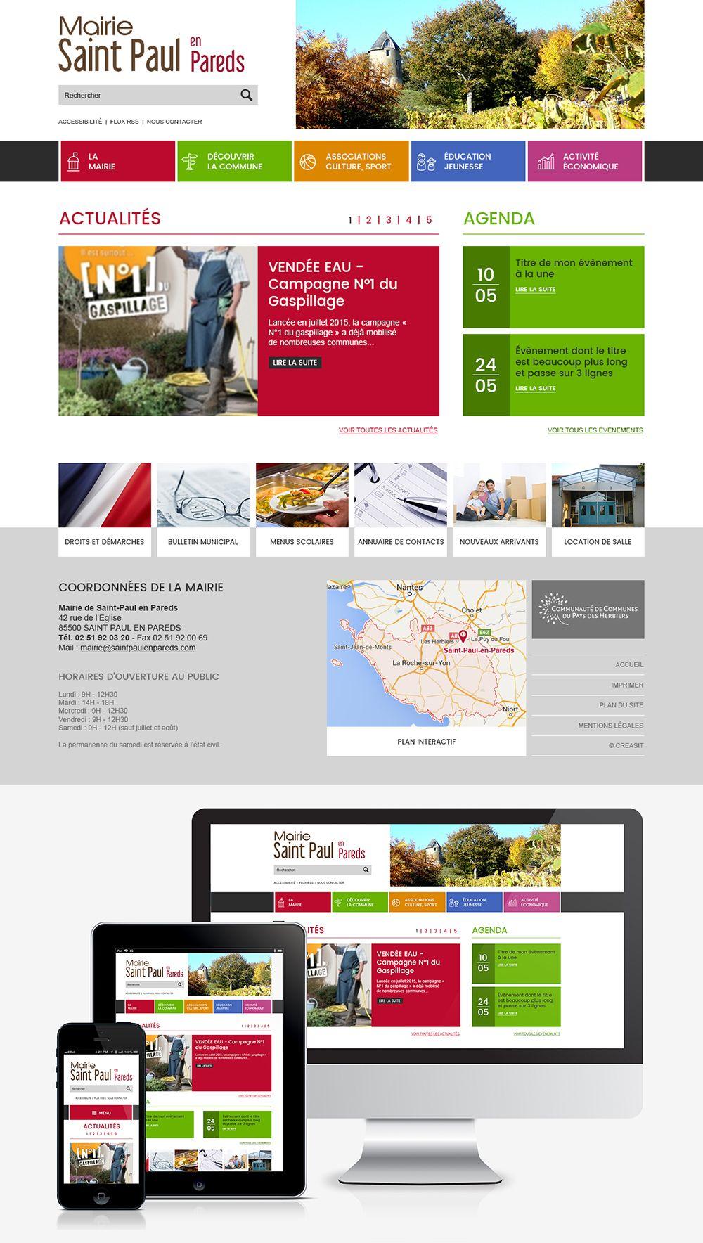 Createur De Site Internet site web de la mairie de saint-paul-en-pareds (85) : #web