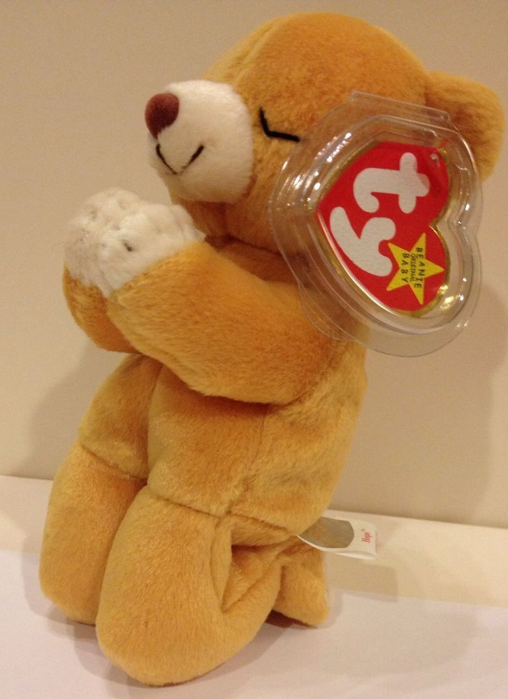 8a1c6466bf6 Ty Beanie Babies Hope 1999 Praying Teddy Bear Plush Kneeling In Prayer