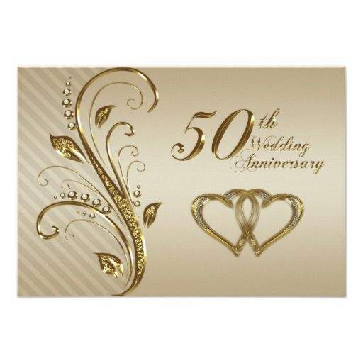 50th Wedding Anniversary Rsvp Card Tarjetas De Aniversario