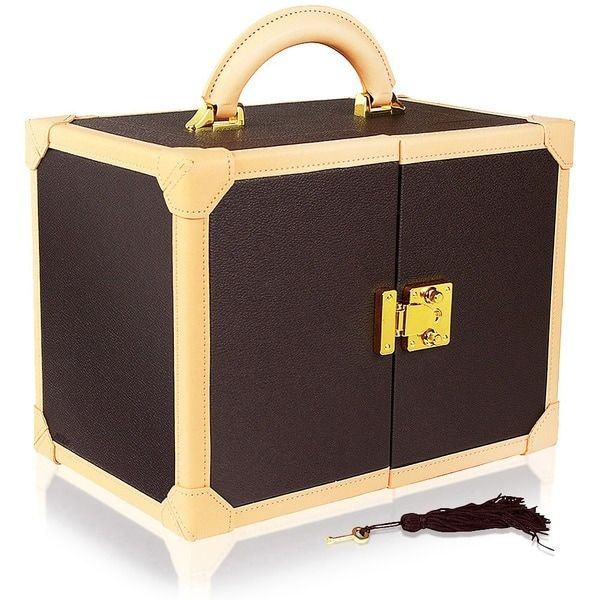 Ikee Design Premium Leatherette Jewelry Box Organizer Storage Chest With  Key Lock