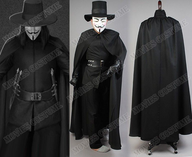 Guy Fawkes costume for V for V for Vendetta Cosplay | movies costume ...
