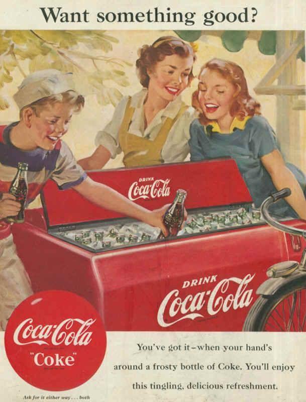 coca-cola_want_something_good_1951 | Coke-Vintage in 2019 | Coca
