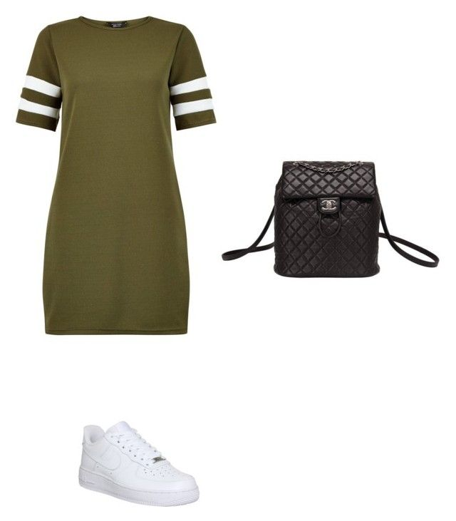 """Simple"" by mefo-2 ❤ liked on Polyvore featuring New Look, NIKE and Chanel"