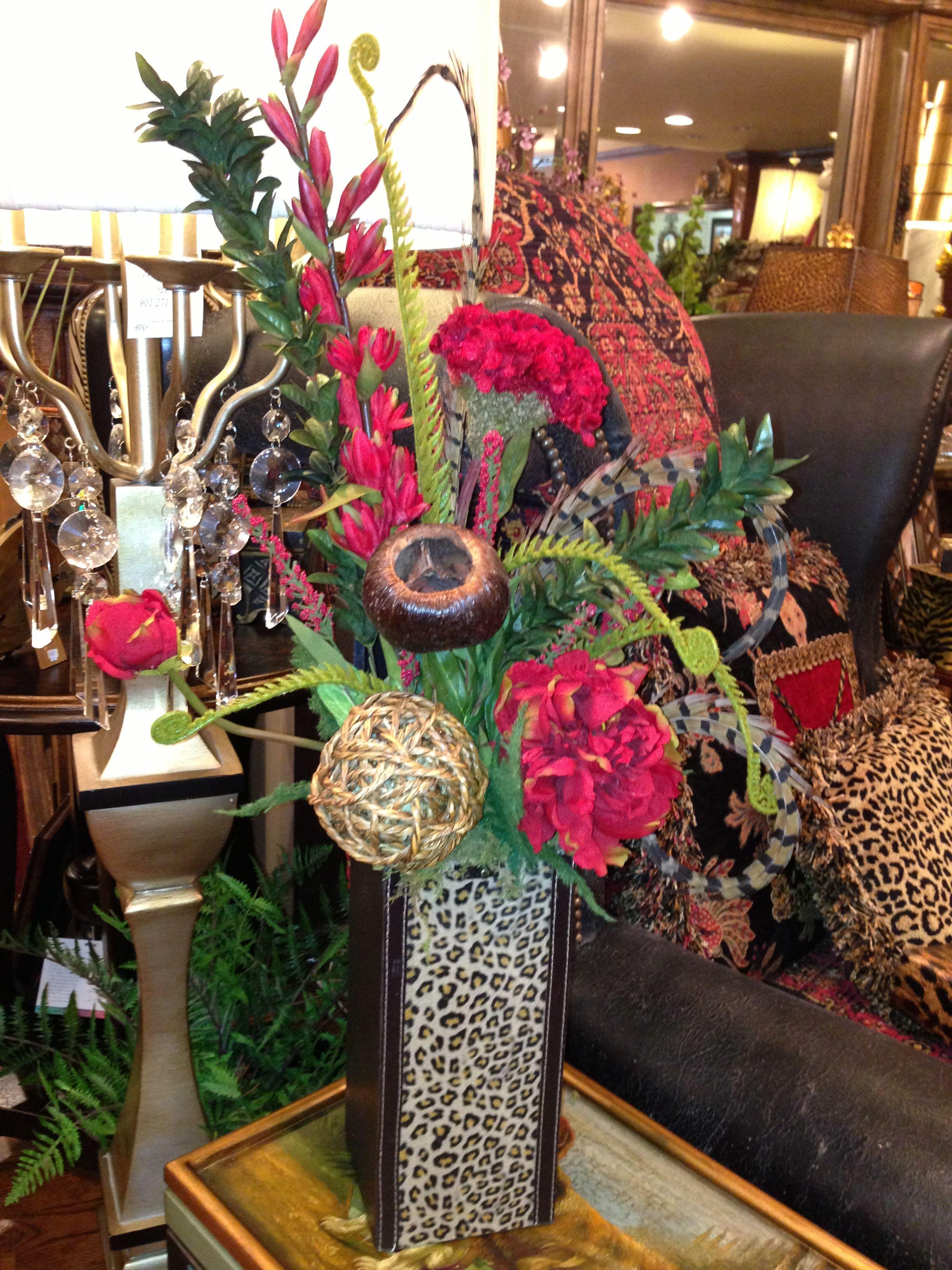 Silk floral arrangement   Floral arrangements, Silk ...