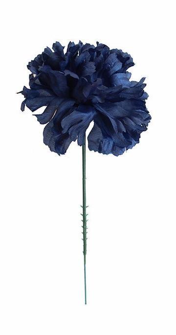 Case Of 100 Navy Blue Carnation Bulk Silk Flower Picks 3 5