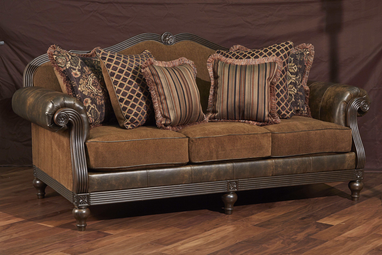 Elegant vintage inspired sofa. This piece will bring