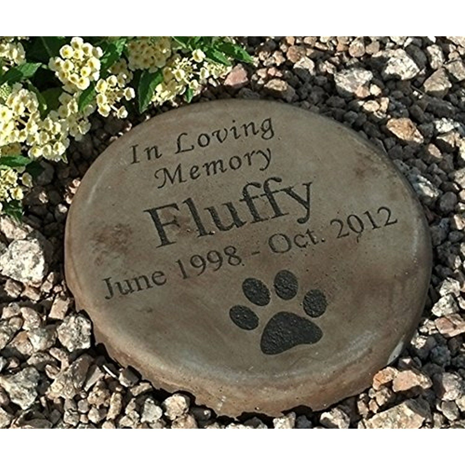 Personalized Engraved Pet Memorial Step Stone 7.5\