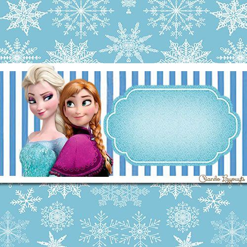 ♥ Kit festa personalizada Frozen completo | Criando Layouts