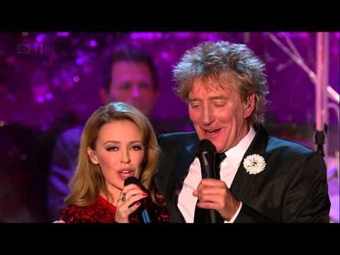 [HD] LET IT SNOW (Live at Rod Stewart's Christmas) - Kylie Minogue & Rod...
