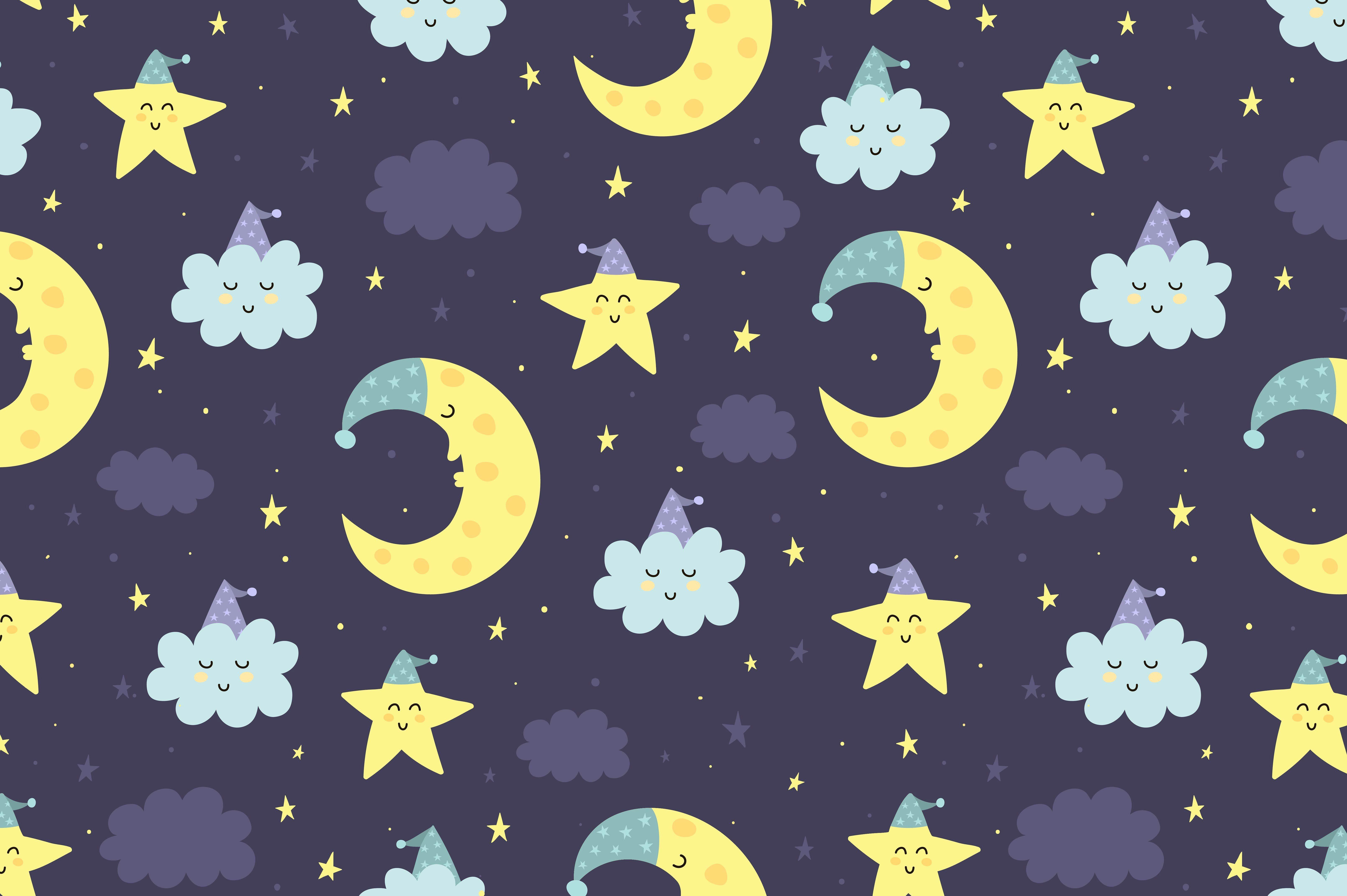 Good Night Vol 2 Patterns Cards Card Patterns Creative Illustration Dream Background