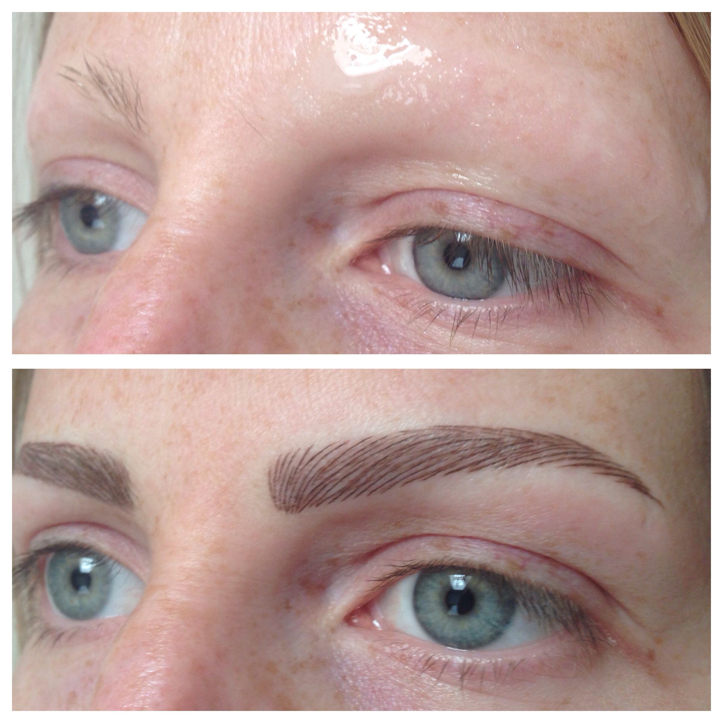 Permanent Brows Restored Due To Alopecia Permanent Makeup Lashes