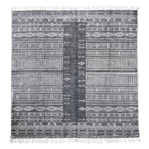 Gemusterter Teppich In Blau-grau-weiß 180x180cm, Von House