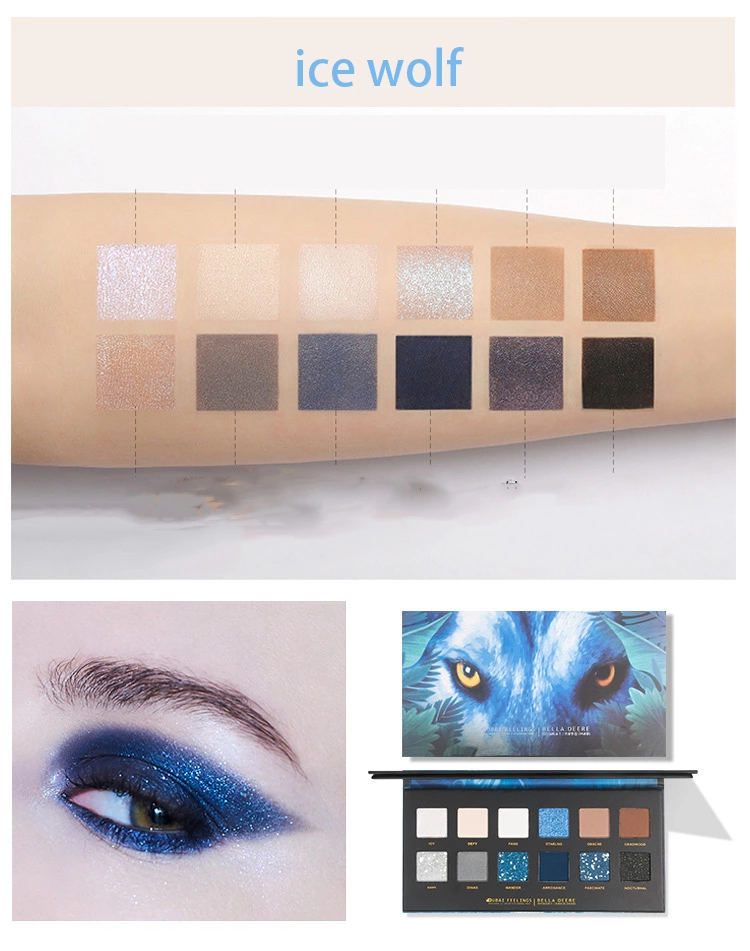 Luxury Private Label Cosmetics high pigment 12 colors eye