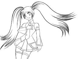 Resultado De Imagen Para Hatsune Miku Para Colorear Dibujos