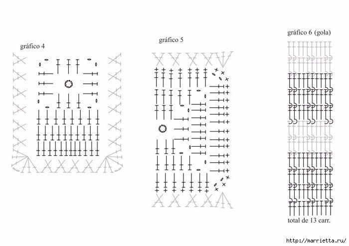 vestido-cuadros-crochet-4.jpg (700×493)   Vestido crochet ...