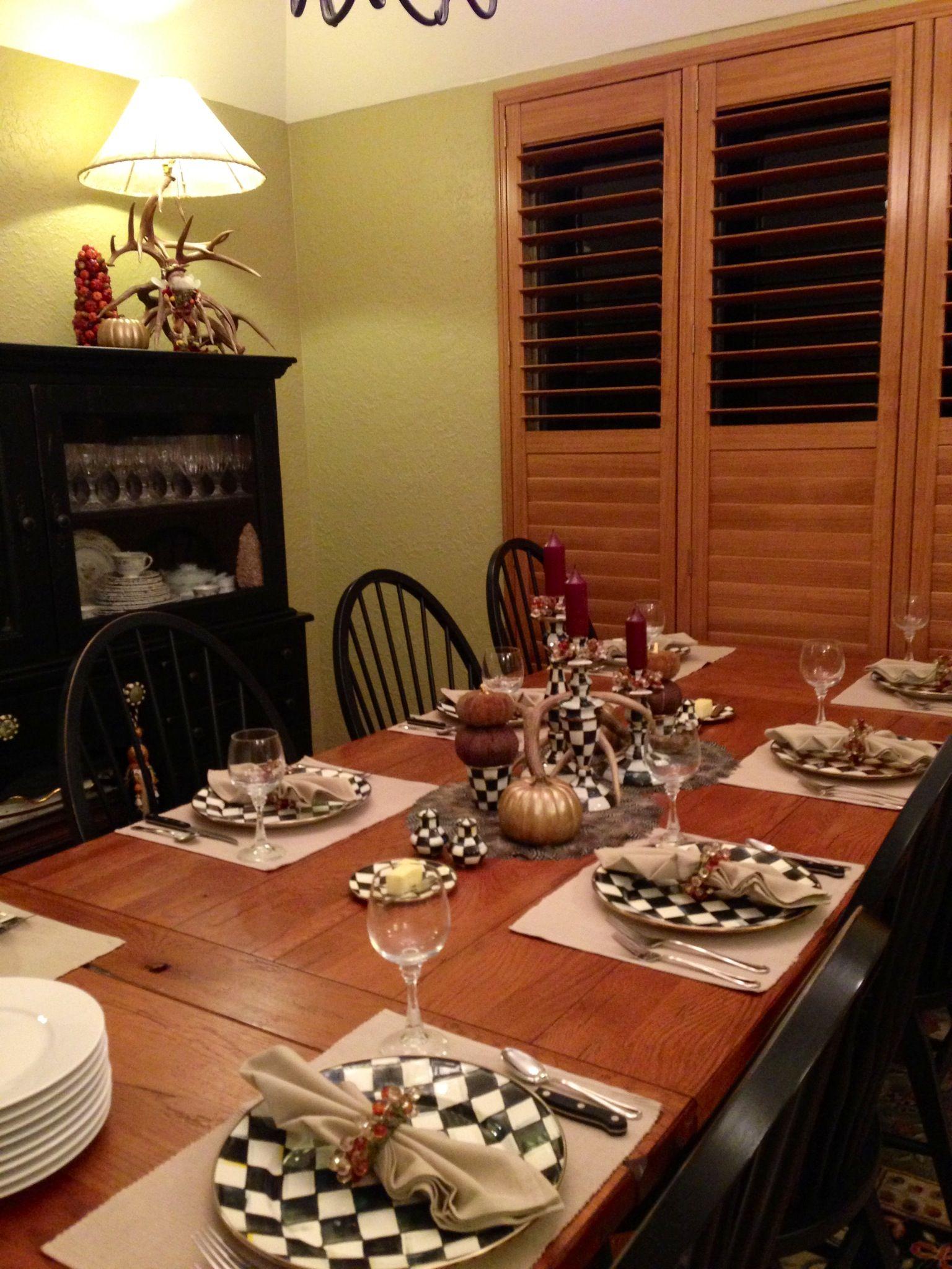 Sunday Family Dinner Table Setting 10 13 13 Family Dinner