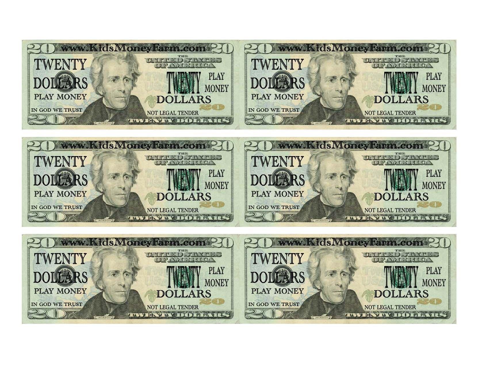 Money Template Printable Play Money Fake Money