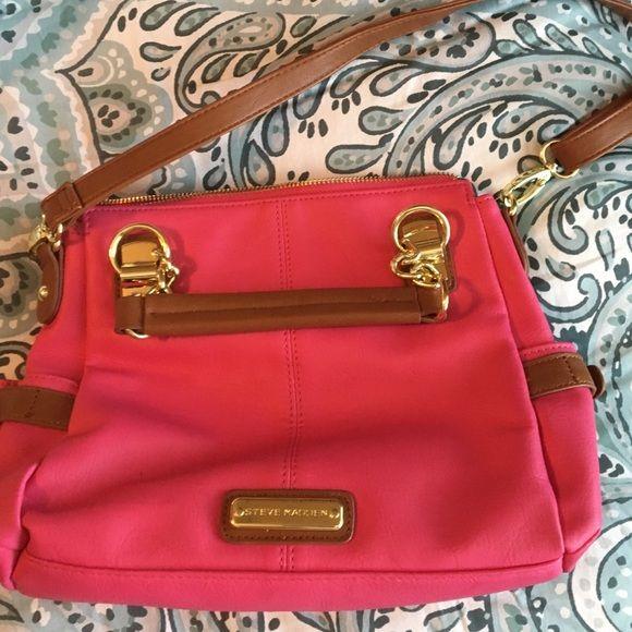 Steve Madden hot pink purse | Pink