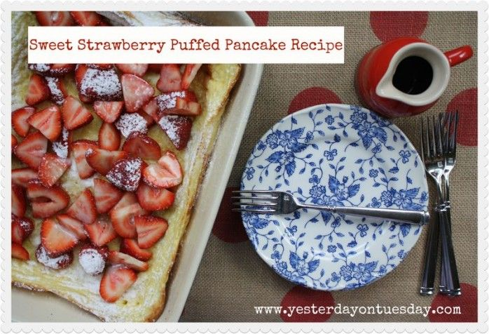 Yummy puffed pancake recipe great breakfast food do it yourself puffed pancake recipe scrumptious strawberry puffed pancake recipe substitute your favorite fruit find this pin and more on do it yourself solutioingenieria Image collections