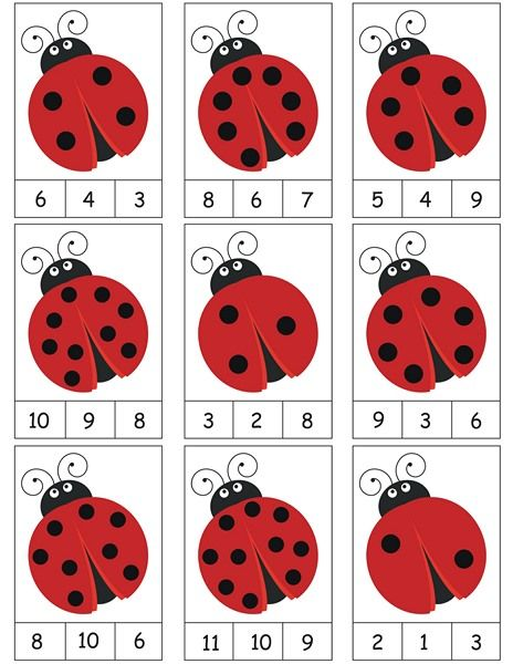 ladybug counting activity | MATH | Pinterest | Counting activities ...