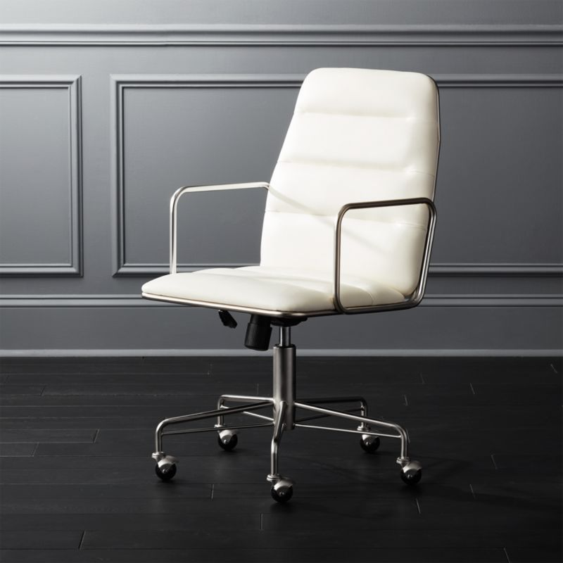 Mad White Executive Chair Reviews Cb2 Modern Office Chair Home Office Chairs Furniture Clearance