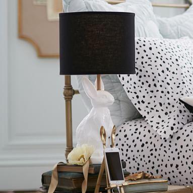 The Emily Meritt White Bunny Table Lamp Emily And Meritt Bunny Lamp Lamp