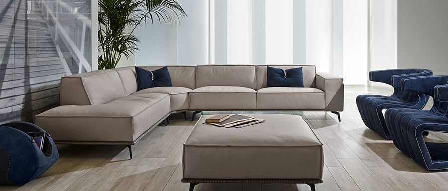 Gamma Edwin Sectional Modern Sofa Sectional Luxury Furniture Living Room Sectional Sofas Living Room