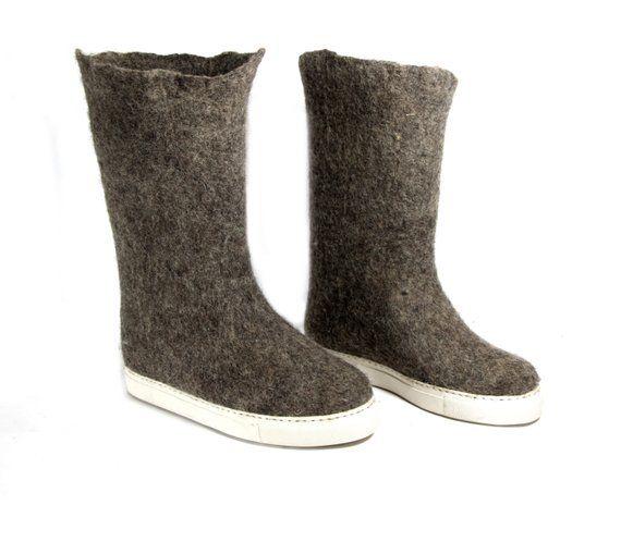 0d0e3783b5b7b Felt Boots, Organic Wool Boots, Wool Valenki Boots Winter Boots ...