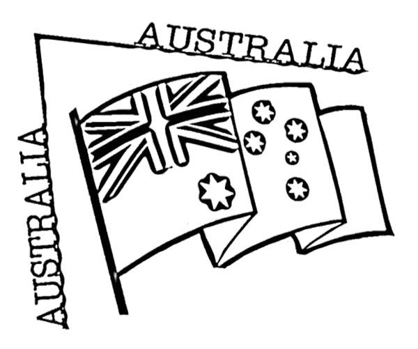 Flag Australia Day Coloring Page | Kids Coloring Pages | Pinterest