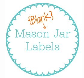 Printable Jar Label Template