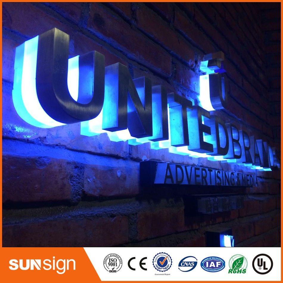 Metal Sign Letters Wholesale Taobao Sign Manufacturer Wholesale Metal Backlit Letter Signage